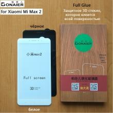 Защитное стекло Bonaier (3D Full Glue) для смартфона Xiaomi Mi Max 2, клеится к экрану смартфона всей поверхностью, 9H, не влияет на чувствительность сенсора, не искажает цвета, антибликовое покрытие, олеофобное покрытие, стекло с закруглёнными краями 2.5D, 2,5D, прозрачное с чёрной или белой рамкой, набор для подклеивания краёв защитного стекла, Киев