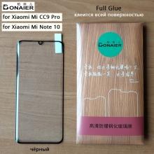 Защитное стекло Bonaier (3D Full Glue) для смартфона Xiaomi Mi Note 10 / Xiaomi Mi CC9 Pro, бронированное стекло, изогнутое стекло, клеится к экрану смартфона всей поверхностью, 9H, не влияет на чувствительность сенсора, не искажает цвета, антибликовое покрытие, олеофобное покрытие, стекло с закруглёнными краями 2.5D, 2,5D, 3D, 5D, 6D, прозрачное с чёрной или белой рамкой, набор для подклеивания краёв защитного стекла, Киев