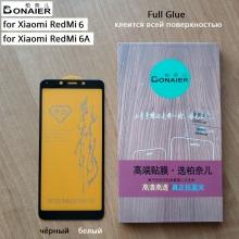 Защитное стекло Bonaier (3D Full Glue) для смартфона Xiaomi Redmi 6 / Xiaomi Redmi 6A, бронированное стекло, клеится к экрану смартфона всей поверхностью, 9H, не влияет на чувствительность сенсора, не искажает цвета, антибликовое покрытие, олеофобное покрытие, стекло с закруглёнными краями 2.5D, 2,5D, 3D, 5D, 6D, прозрачное с чёрной или белой рамкой, набор для подклеивания краёв защитного стекла, liquid, Киев