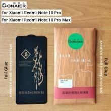 Защитное стекло Bonaier (3D Full Glue) для смартфона Xiaomi Redmi Note 10 Pro / Xiaomi Redmi Note 10 Pro Max, бронированное стекло, клеится к экрану смартфона всей поверхностью, 9H, не влияет на чувствительность сенсора, не искажает цвета, антибликовое покрытие, олеофобное покрытие, стекло с закруглёнными краями 2.5D, 2,5D, 3D, 5D, 6D, прозрачное с чёрной или белой рамкой, набор для подклеивания краёв защитного стекла, Киев