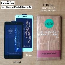 Защитное стекло Bonaier (3D Full Glue) для смартфона Xiaomi RedMi Note 4X, бронированное стекло, клеится к экрану смартфона всей поверхностью, 9H, не влияет на чувствительность сенсора, не искажает цвета, антибликовое покрытие, олеофобное покрытие, стекло с закруглёнными краями 2.5D, 2,5D, прозрачное с чёрной или белой рамкой, набор для подклеивания краёв защитного стекла, пластиковый держатель для точного позиционирования защитного стекла на экране смартфона, Киев