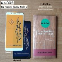 Защитное стекло Bonaier (3D Full Glue) для смартфона Xiaomi RedMi Note 5 / RedMi Note 5 Pro, бронированное стекло, клеится к экрану смартфона всей поверхностью, 9H, не влияет на чувствительность сенсора, не искажает цвета, антибликовое покрытие, олеофобное покрытие, стекло с закруглёнными краями 2.5D, 2,5D, 3D, 5D, 6D, прозрачное с чёрной или белой рамкой, набор для подклеивания краёв защитного стекла, Киев