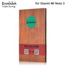 Защитное стекло Bonaier (Triple Strong) для смартфона Xiaomi Mi Note 3, закалённое стекло, 9H, антибликовое покрытие, олеофобное покрытие, Киев