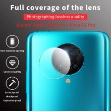 Защитное стекло для камеры смартфона Xiaomi Redmi K30 Pro / Xiaomi Poco F2 Pro, бронированное стекло, толщина 0,2 – 0,3 мм, показатель по минералогической шкале твёрдости (шкала Мооса от 1 до 10): 9H (твёрдость алмаза 10H), в 4 раза более устойчиво к царапинам, чем обычная защитная плёнка, не влияет на качество съёмки, прозрачное, Киев