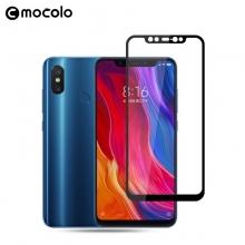 Защитное стекло Mocolo (2,5D Full Glue) для смартфона Xiaomi Mi8, клеится к экрану смартфона всей поверхностью, 9H, не влияет на чувствительность сенсора, не искажает цвета, антибликовое покрытие, олеофобное покрытие, стекло с закруглёнными краями 2.5D, 2,5D, прозрачное с чёрной или белой рамкой, Киев