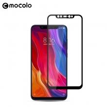 Защитное стекло Mocolo (2,5D Full Glue) для смартфона Xiaomi Mi8 SE, клеится к экрану смартфона всей поверхностью, 9H, не влияет на чувствительность сенсора, не искажает цвета, антибликовое покрытие, олеофобное покрытие, стекло с закруглёнными краями 2.5D, 2,5D, прозрачное с чёрной или белой рамкой, Киев
