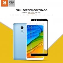 Защитное стекло Mocolo (5D Full Glue) для смартфона Xiaomi RedMi 5, бронированное стекло, клеится к экрану смартфона всей поверхностью, 9H, не влияет на чувствительность сенсора, не искажает цвета, антибликовое покрытие, олеофобное покрытие, стекло с закруглёнными краями 2.5D, 2,5D, 3D, 5D, 6D, прозрачное с чёрной или белой рамкой, Киев