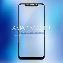 Защитное стекло Nillkin CP+ (3D Full Glue) для смартфона Xiaomi RedMi Note 6 Pro, закалённое стекло, бронированное стекло, полноэкранное стекло, полноклейка, клеится к экрану смартфона всей поверхностью, 9H, толщина 0,2 мм, не влияет на чувствительность сенсора, не искажает цвета, антибликовое покрытие, олеофобное покрытие, стекло с закруглёнными краями 2.5D, 2,5D, 3D, 5D, 6D, прозрачное с чёрной или белой рамкой, liquid, Киев