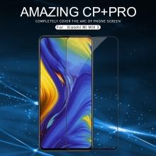 Защитное стекло Nillkin CP+Pro (3D Full Glue) для смартфона Xiaomi Mi Mix 3, закалённое стекло, бронированное стекло, полноэкранное стекло, полноклейка, клеится к экрану смартфона всей поверхностью, 9H, толщина 0,33 мм, не влияет на чувствительность сенсора, не искажает цвета, антибликовое покрытие, олеофобное покрытие, стекло с закруглёнными краями 2.5D, 2,5D, 3D, 5D, 6D, прозрачное с чёрной или белой рамкой, liquid, Киев