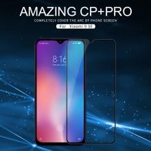 Защитное стекло Nillkin CP+Pro (3D Full Glue) для смартфона Xiaomi Mi9 SE, закалённое стекло, бронированное стекло, полноэкранное стекло, полноклейка, клеится к экрану смартфона всей поверхностью, 9H, толщина 0,33 мм, не влияет на чувствительность сенсора, не искажает цвета, антибликовое покрытие, олеофобное покрытие, стекло с закруглёнными краями 2.5D, 2,5D, 3D, 5D, 6D, прозрачное с чёрной или белой рамкой, liquid, Киев