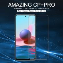 Защитное стекло Nillkin CP+Pro (3D Full Glue) для смартфона Xiaomi Redmi Note 10 / Xiaomi Redmi Note 10S, закалённое стекло, бронированное стекло, полноэкранное стекло, полноклейка, клеится к экрану смартфона всей поверхностью, 9H, толщина 0,33 мм, не влияет на чувствительность сенсора, не искажает цвета, антибликовое покрытие, олеофобное покрытие, стекло с закруглёнными краями 2.5D, 2,5D, 3D, 5D, 6D, прозрачное с чёрной или белой рамкой, liquid, Киев