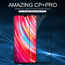 Защитное стекло Nillkin CP+Pro (3D Full Glue) для смартфона Xiaomi Redmi Note 8 Pro, закалённое стекло, бронированное стекло, полноэкранное стекло, полноклейка, клеится к экрану смартфона всей поверхностью, 9H, толщина 0,33 мм, не влияет на чувствительность сенсора, не искажает цвета, антибликовое покрытие, олеофобное покрытие, стекло с закруглёнными краями 2.5D, 2,5D, 3D, 5D, 6D, прозрачное с чёрной или белой рамкой, liquid, Киев