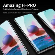 Защитное стекло Nillkin H+Pro для смартфона Xiaomi Redmi Note 10 Pro / Xiaomi Redmi Note 10 Pro Max, закалённое стекло, бронированное стекло, 9H, толщина 0,2 мм, 2,5D, 2.5D, антибликовое покрытие, олеофобное покрытие, Киев