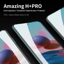 Защитное стекло Nillkin H+Pro для смартфона Xiaomi Xiaomi Redmi Note 10 / Xiaomi Redmi Note 10S, закалённое стекло, бронированное стекло, 9H, толщина 0,2 мм, 2,5D, 2.5D, антибликовое покрытие, олеофобное покрытие, Киев