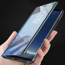 Зеркальный чехол-книжка-подставка Mirror Case для смартфона Xiaomi Mi Max 3, противоударный чехол, пластик + полиуретан, смарт-чехол (при открытии чехла экран включается), Kview Magic Mirror, возможность трансформации чехла в подставку для просмотра видео, чёрный, синий, фиолетовый, золотой, розовый, Киев