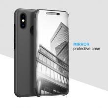 Зеркальный чехол-книжка-подставка Mirror Case для смартфона Xiaomi Mi8, противоударный чехол, пластик + полиуретан, смарт-чехол (при открытии чехла экран включается), Kview Magic Mirror, возможность трансформации чехла в подставку для просмотра видео, чёрный, синий, фиолетовый, золотой, розовый, Киев
