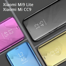 Зеркальный чехол-книжка-подставка Mirror Case для смартфона Xiaomi Mi9 Lite / Xiaomi Mi CC9, противоударный чехол, пластик + полиуретан, смарт-чехол (при открытии чехла экран включается), Kview Magic Mirror, возможность трансформации чехла в подставку для просмотра видео, чёрный, синий, фиолетовый, золотой, розовый, Киев