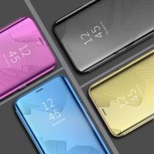 Зеркальный чехол-книжка-подставка Mirror Case для смартфона Xiaomi Redmi 6 Pro / Xiaomi Mi A2 Lite, противоударный чехол, пластик + полиуретан, смарт-чехол (при открытии чехла экран включается), Kview Magic Mirror, возможность трансформации чехла в подставку для просмотра видео, чёрный, синий, фиолетовый, золотой, серебряный, розовый, Киев