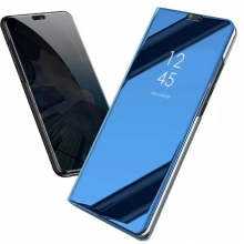 Зеркальный чехол-книжка-подставка Mirror Case для смартфона Xiaomi Redmi Note 5 / RedMi Note 5 Pro, противоударный чехол, пластик + полиуретан, смарт-чехол (при открытии чехла экран включается), Kview Magic Mirror, возможность трансформации чехла в подставку для просмотра видео, чёрный, синий, фиолетовый, золотой, розовый, Киев