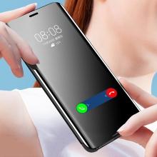 Зеркальный чехол-книжка-подставка Mirror Case для смартфона Xiaomi Redmi Note 7, противоударный чехол, пластик + полиуретан, смарт-чехол (при открытии чехла экран включается), Kview Magic Mirror, возможность трансформации чехла в подставку для просмотра видео, чёрный, синий, фиолетовый, золотой, розовый, Киев