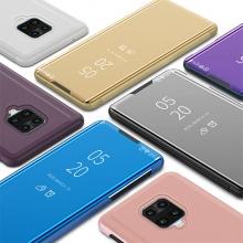 Зеркальный чехол-книжка-подставка Mirror Case для смартфона Xiaomi Redmi Note 9 Pro / Xiaomi Redmi Note 9 Pro Max / Xiaomi Redmi Note 9S, противоударный чехол, пластик + полиуретан, смарт-чехол (при открытии чехла экран включается), Kview Magic Mirror, возможность трансформации чехла в подставку для просмотра видео, чёрный, синий, фиолетовый, золотой, розовый, Киев