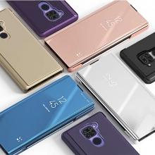 Зеркальный чехол-книжка-подставка Mirror Case для смартфона Xiaomi Redmi Note 9 / Xiaomi Redmi 10X 4G, противоударный чехол, пластик + полиуретан, смарт-чехол (при открытии чехла экран включается), Kview Magic Mirror, возможность трансформации чехла в подставку для просмотра видео, чёрный, синий, фиолетовый, золотой, розовый, Киев