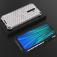 Чехол-накладка с рисунком в виде сот для смартфона Xiaomi Redmi Note 8 Pro, задняя панель из поликарбоната, рама из термополиуретана, сочетание жёсткости с гибкостью, дополнительная защита углов смартфона «воздушными подушками», накладка на кнопки регулировки громкости и включения / выключения, чёрный + прозрачный, чёрный + серый, чёрный + красный, чёрный + синий, чёрный + зелёный, Киев