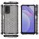 Чехол-накладка с рисунком в виде сот для смартфона Xiaomi Redmi Note 9 4G (China) / Xiaomi Redmi 9T / Xiaomi Redmi 9 Power, противоударный бампер, задняя панель из поликарбоната, рама из термополиуретана, сочетание жёсткости с гибкостью, дополнительная защита углов смартфона «воздушными подушками», накладка на кнопки регулировки громкости, чёрный + прозрачный, чёрный + серый, чёрный + красный, чёрный + синий, чёрный + зелёный, Киев