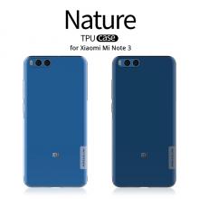Чехол-накладка Nillkin (серия Nature) для смартфона Xiaomi Mi Note 3, противоударный бампер, силикон, термополиуретан, TPU, прозрачный, Киев