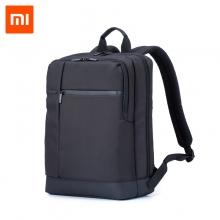 """Рюкзак Xiaomi Mi Classic Business Backpack, водоотталкивающий полиэстер, дно из прочного пластика, отделение для 15,6-дюймового ноутбука, застёжки-молнии, возможность надевания рюкзака на ручку чемодана / тележки при транспортировке, много отделений, большая вместимость, скрытое отделение-сетка для бутылки, термоса, заплечные ремни в виде буквы S, ручка для переноски рюкзака в руке, логотип """"Mi"""" или """"90"""", чёрный, хаки с серыми вставками, объём 17 л, Киев"""