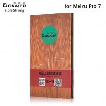 Защитное стекло Bonaier (Triple Strong) для смартфона Meizu Pro 7, закалённое стекло, бронированное стекло, 9H, антибликовое покрытие, олеофобное покрытие, Киев