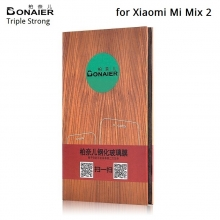Защитное стекло Bonaier (Triple Strong) для смартфона Xiaomi Mi Mix 2, закалённое стекло, бронированное стекло, 9H, антибликовое покрытие, олеофобное покрытие, Киев