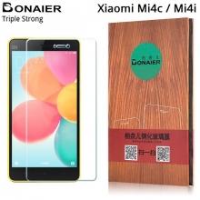 Защитное стекло Bonaier (Triple Strong) для смартфонов Xiaomi Mi4c / Mi4i, закалённое стекло, бронированное стекло, 9H, антибликовое покрытие, олеофобное покрытие, Киев